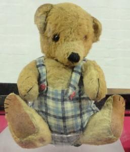 Alan Turing's teddy bear Porgy face on
